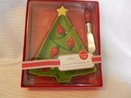 Hallmark Ceramic Christmas Tree Serving Dish with Lighted Spreader, BNOS - $29.70
