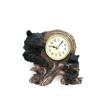 StealStreet SS-UG-GMD-586 Table Clock with Two American Black Bears, Gol... - $36.68