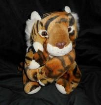 "12"" Vintage Commonwealth Naranja Tiger Mamá & Bebé Peluche Juguete de Felpa - $34.30"