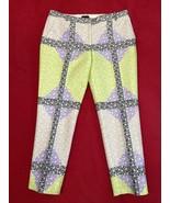 Jcrew Wool And Silk Blend Women's Pants Size 8 Purple Print - $83.16