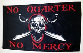 No Quarters No Mercy Pirate Flag 3' X 5' Indoor Outdoor Banner - $9.95