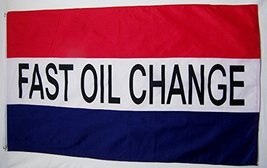 Fast Oil Change Business Flag 3' X 5' Indoor Outdoor Oil Change Shop Banner - $9.95
