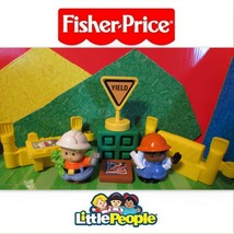 Fisher Price Little People Construction Lot Fence Blue Print Drafting Si... - $8.99