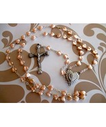Pink Heart Shaped Beaded Rosary - $16.00