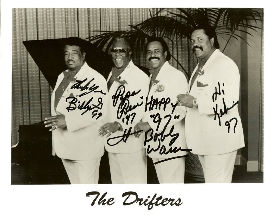 Primary image for 1997 autograph the drifters music group doo wop