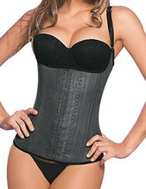 Ann Chery Women's Latex Classic Waist Cincher Semi Vest,42,Black - $78.29