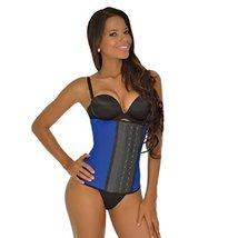 Ann Michell 2024 Women's Workout Latex Waist Cincher Sport 3 Hooks (S(34), Blue) - $50.46