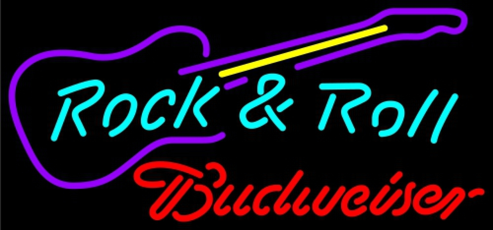 Primary image for Budweiser Rock & Roll Guitar Neon Sign