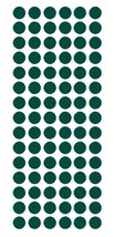 "1/2"" Dark Green Round Vinyl Color Coded Inventory Label Dots Stickers Usa Made - $1.98+"