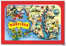 Maryland Map, MD ~ 2 x 3 Souvenir Fridge Photo Magnet #MD200 - $5.99
