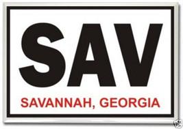 SAV Logo, Savannah Georgia- 2 x 3 Fridge Photo Magnet #SAV39 - $5.99
