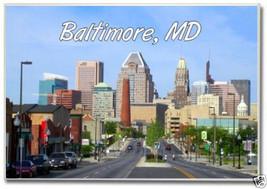 Baltimore, Maryland Downtown Skyline, MD ~ 2 x 3 Fridge Photo Magnet BAL... - $6.99