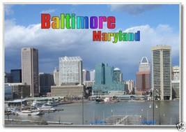 Baltimore, Maryland Skyline, MD ~ Souvenir 2 x 3 Fridge Photo Magnet BAL... - $6.99
