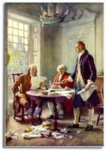 Declaration of Independence ~ Painting 2 x 3 Souvenir Fridge Magnet #A228 - $5.99