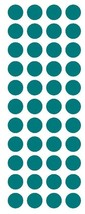 """3/4"""" Turquoise Round Color Code Inventory Label Dot Stickers MADE IN USA  - $1.49+"""