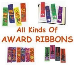 All Kinds Of Award Ribbons Choose Sports CHURCH  grad School - $3.95