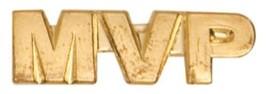 Gold Finish Metal MVP Pin TIE TACK Team Sport School Varsity Insignia Chenille - $4.79+