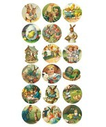 Vintage Easter Eggs Bunny Basket Labels Stickers Decals CRAFTS Made In USA #D353 - $0.99 - $3.99