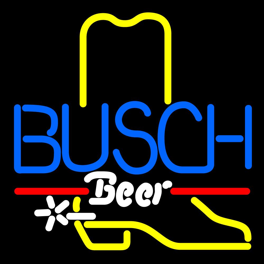 Busch Cowboy Boot Neon Sign