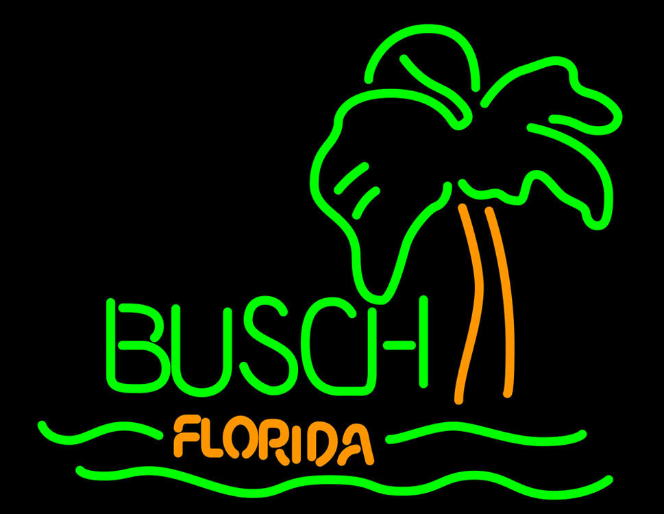 Primary image for Busch Florida With Palm Tree Neon Sign