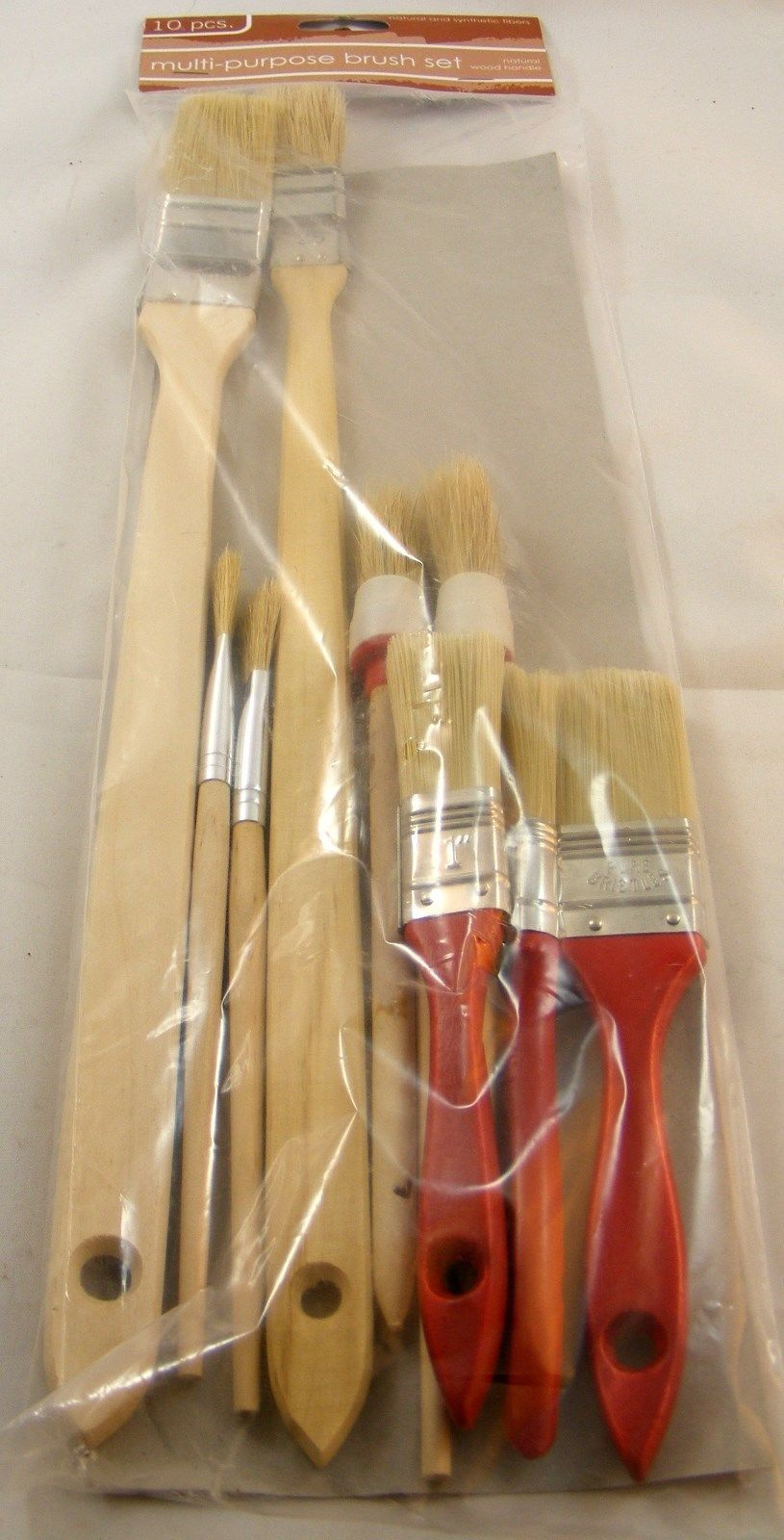Primary image for Brush Set 10 Piece Multi Purpose Natural and Synthetic Fibers Free Shipping