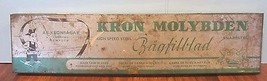 Vintage kron molybden Swedish Hack Saw Tool Blades Rare Tin Litho Metal ... - $29.70