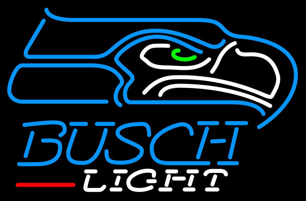 Primary image for Busch Light NFL Seattle Seahawks Neon Sign