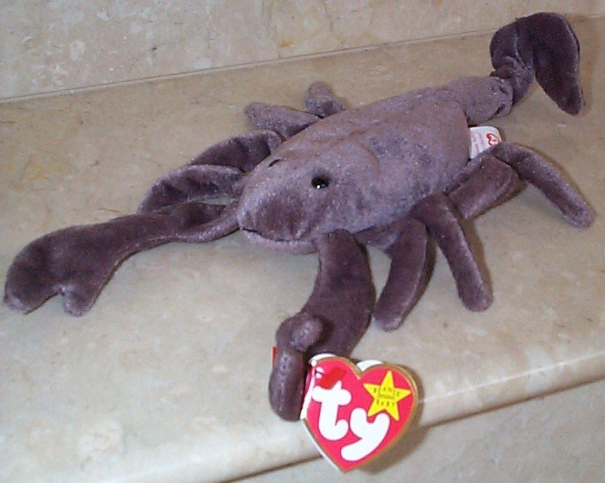 Beanie Babies Baby Ty Stinger the Scorpion 1997 Retired Collectible