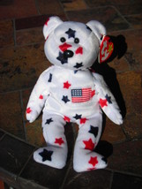 Beanie Babies Baby Ty Bear Glory USA Flag Stars and Stripes Retired 1997 - $4.90