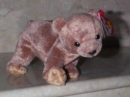 Beanie Babies Baby Ty Pecan the Bear Tan Brown 1999 Retired Collectible - $4.90