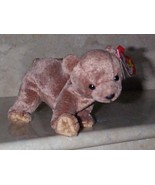 Beanie Babies Baby Ty Pecan the Bear Tan Brown 1999 Retired Collectible - $3.50
