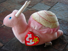 Beanie Babies Baby Ty Swirly the Snail 1999 Retired Collectible - $4.90