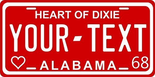 Primary image for Alabama 1968 Personalized Tag Vehicle Car Auto License Plate