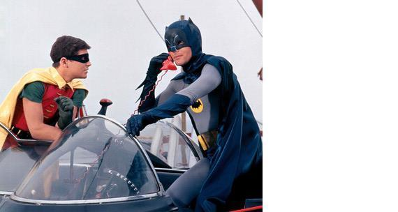 Primary image for Batman BM MM18 Adam West Burt Ward  Vintage 28X35 Color TV Memorabilia Photo