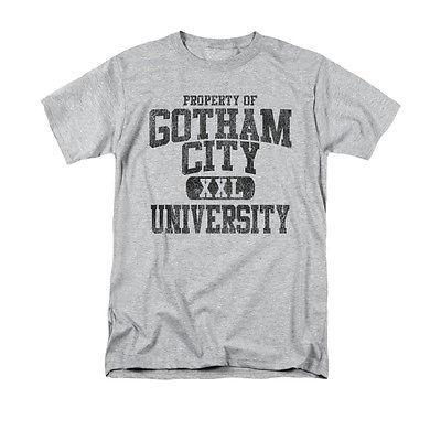 BATMAN PROPERTY OF GCU  T-SHIRT Gotham superhero 100% cotton graphic grey tee