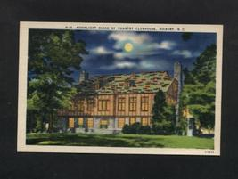 Vintage Postcard Hickory NC Linen Country Club House Clubhouse Unused - $6.50