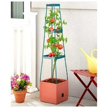 Grow Tower Trellis Support Tower for Tomatoes Flowers 3 Tier Plant Cage - $13.88+