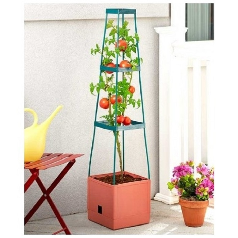 Grow Tower Trellis Support Tower for Tomatoes Flowers 3 Tier Plant Cage