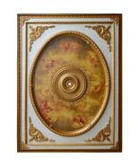 Renaissance  Antique Style Cherubs Chandelier Ceiling Medallion Huge,72'... - $1,282.05