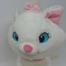 Disney Store The Aristocats Marie Plush White Kitten w Pink Bow Stamped - $14.92