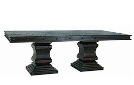 Rustic Gran Hacienda Double Pedestal Table Solid Wood Old World - $1,905.70