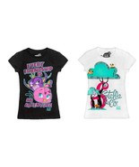 Angry Birds Girls T-Shirt girls tops XS 4-5  NWT White or Black  - $9.74