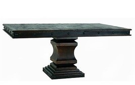 Rustic Old West Gran Hacienda Pedestal Table Solid Wood Old World - $1,400.80