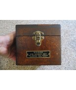 antique advertising Jig Borer Set hinged wooden box The Weldon Tool Comp... - $95.00