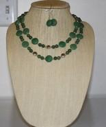 Jade Double Necklace & Earrings Set - $49.00