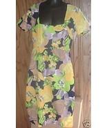 Vintage 70s MOD Hand crafted Dress Op Art floral design - $37.48