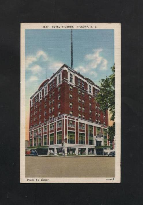Vintage Postcard Hickory NC Linen Hotel Hickory North Carolina Unused