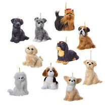 Plush Dog Ornaments - $14.95