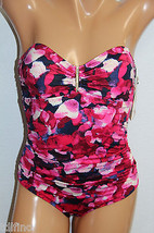 *NEW Calvin Klein Strawberry Strapless Bandeau 1 Pc Swimsuit CG5MS002 sz... - $22.39
