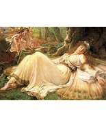 Vintage Reproduction Print Fairy Garden 11x17 Titania 1896 - $27.79